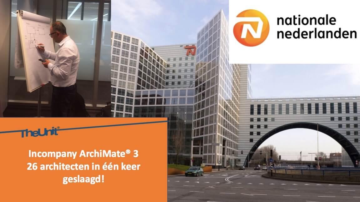 ArchiMate® - 26 architecten geslaagd bij Nationale Nederlanden